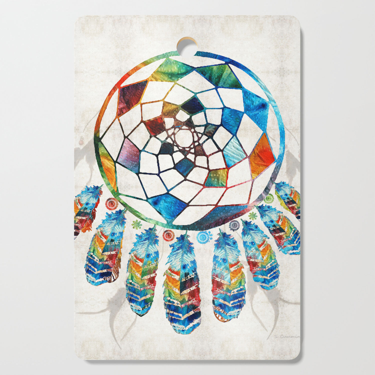 - Native American Colorful Dream Catcher By Sharon Cummings Cutting