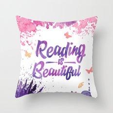 Reading is Beautiful - Splash Throw Pillow