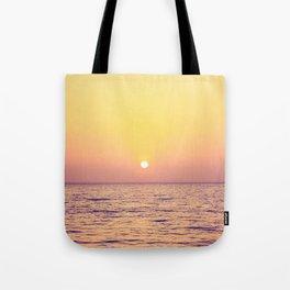 sunrise over the sea Tote Bag