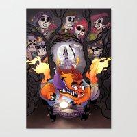 grim fandango Canvas Prints featuring Grim Fandango by SIINS