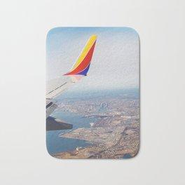 Flying over Baltimore, Maryland Bath Mat