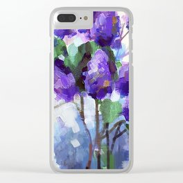 Lilac Branch Clear iPhone Case