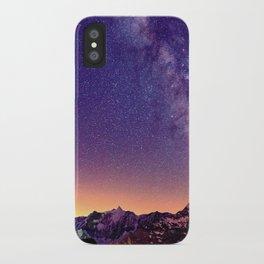 Sunset Mountain #stars iPhone Case