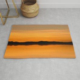 Sunset Salar de Uyuni 5 - Bolivia - Landscape and Rural Art Photography Rug