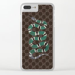 GC snaker Clear iPhone Case