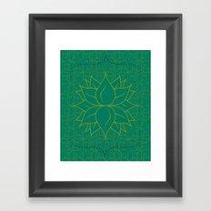 Infinite Hour Glass Framed Art Print