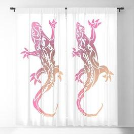 Pink Tribal Tattoo Gecko Blackout Curtain