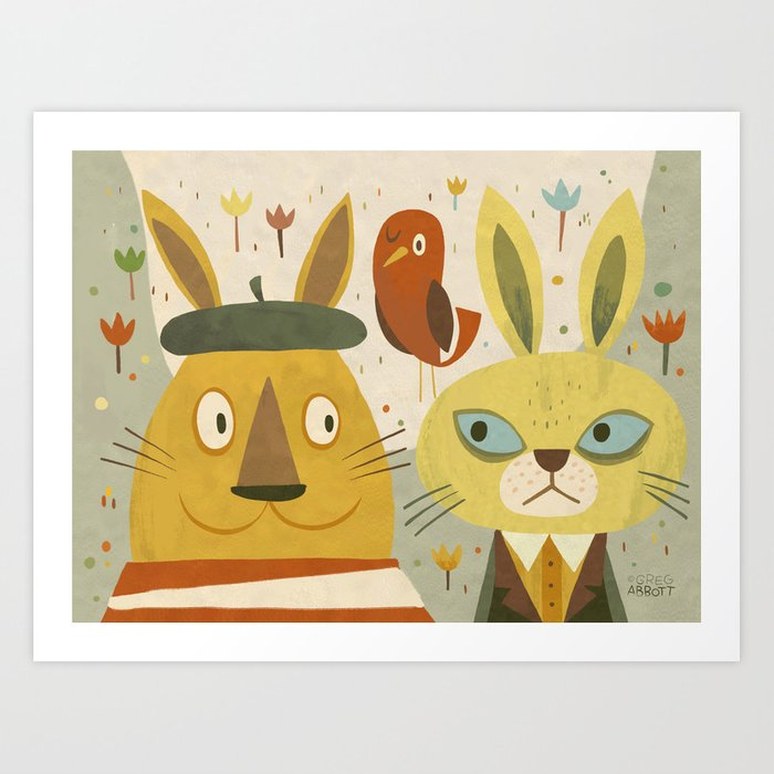 Frederic, Percy and Maxwell Art Print