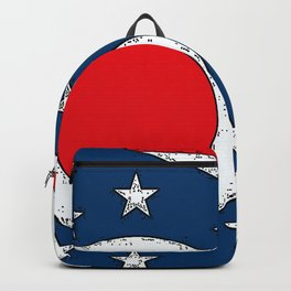 Map of Ohio with State Flag Backpack