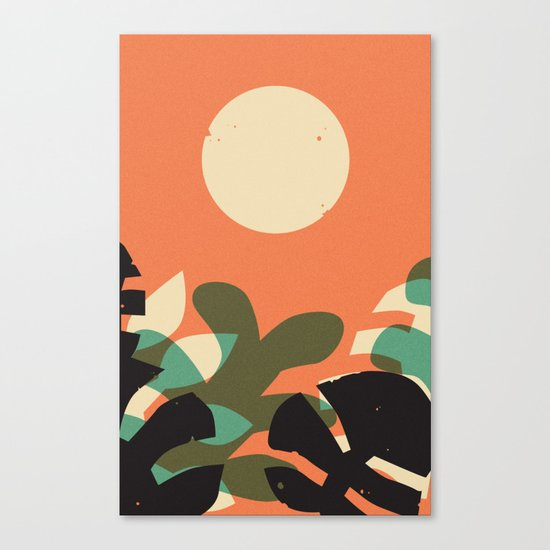 Jungle Sun #2 Canvas Print