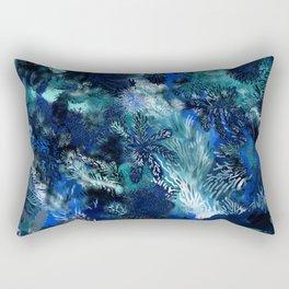 Blue Coral Rectangular Pillow