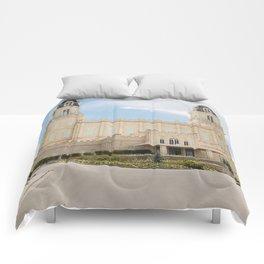Manti Utah LDS Temple Comforters