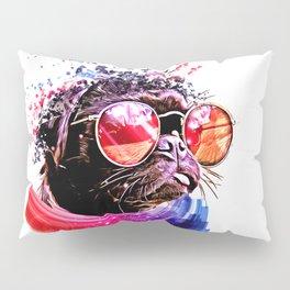 Pug out Pillow Sham