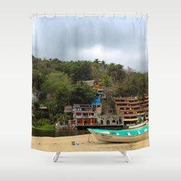 Dreamy Mexican Beach Day Shower Curtain
