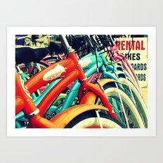 Bikes On The Beach Art Print