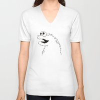 sesame street V-neck T-shirts featuring Studio Sesame by le.duc