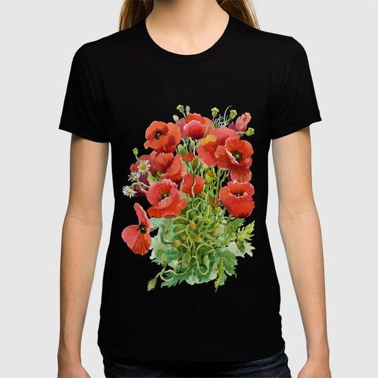 Watercolor Poppies by fantasyartdesigns