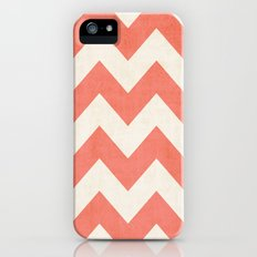 Vintage Coral Chevron Slim Case iPhone (5, 5s)