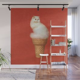 Cat Ice Cream Wall Mural