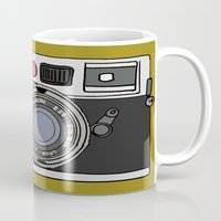 camera Mugs featuring Camera by Illustrated by Jenny