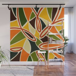 Sunflower Fever - Abstract Tropical Jungle  Illustration Wall Mural