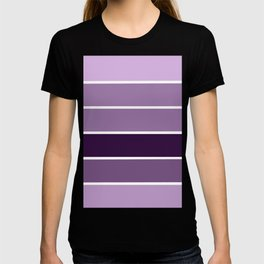 Lavender Purple Stripes T-shirt
