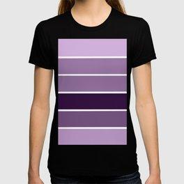 Lavender Purple Stripes T-shirt