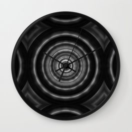 Black And White Art - Mesmerize - By Sharon Cummings Wall Clock