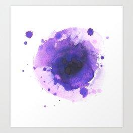inky purpley flower Art Print