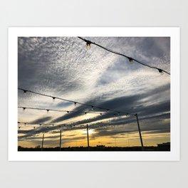 Rooftop Sunset (1) Art Print
