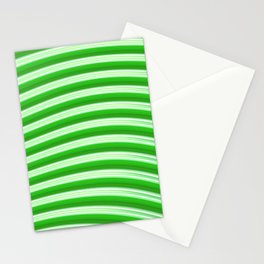 Green abstract lines Stationery Cards