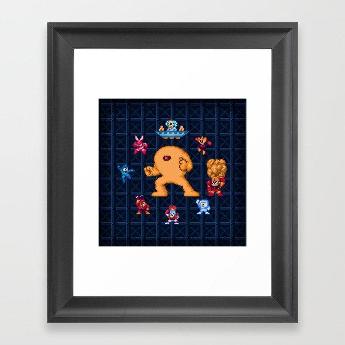 Man Mega One Pixels Gerahmter Kunstdruck