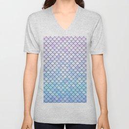 Lavender Mermaid Scales Unisex V-Neck