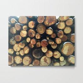 Pile of felled tree trunks Metal Print