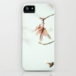 Spring Botanical Maple Tree Seed Minimal iPhone Case