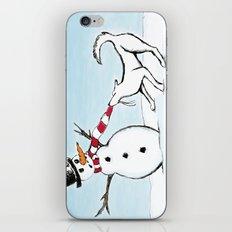 Canine Christmas (Snowman) iPhone & iPod Skin