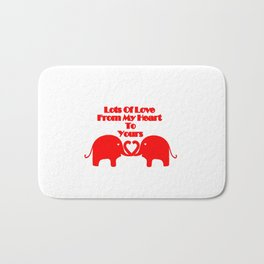 From My Heart To Yours - Valentines Bath Mat