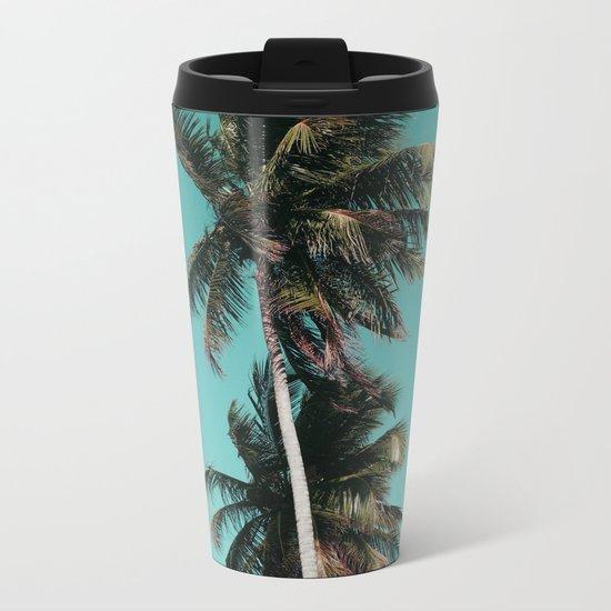 Palm tree vibes Metal Travel Mug