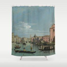 Venice: The Grand Canal facing Santa Croce by Bernardo Bellotto Shower Curtain