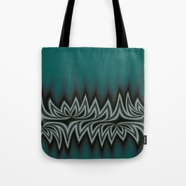 Fractal Tribal Art in Pacific Teal Tote Bag