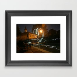 Together Just One Beating Heart Framed Art Print