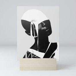 abstract portrait Mini Art Print