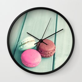 Three in pastel Wall Clock