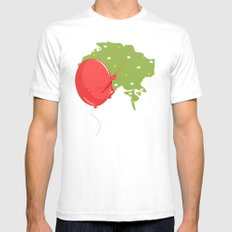 Weather Balloon SMALL White Mens Fitted Tee