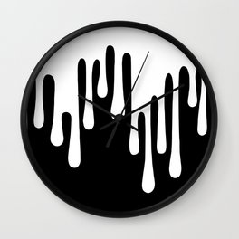WHITE DRIPPING Wall Clock