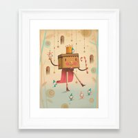 king Framed Art Prints featuring KIng by Cristian Turdera