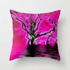 Rising from the depths Throw Pillow