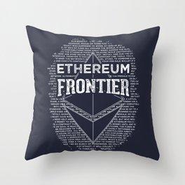 Ethereum Frontier Throw Pillow