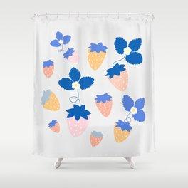 SWEET STRAWBERRIES Shower Curtain