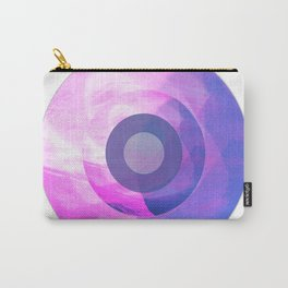 Circles Inside a Circle - Pink Carry-All Pouch